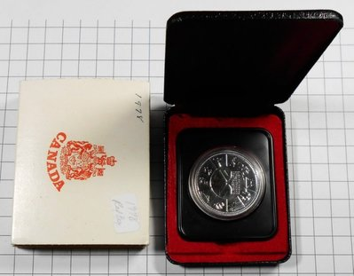BA153 加拿大1978年 大英國協運動會DOLLAR銀幣 盒裝