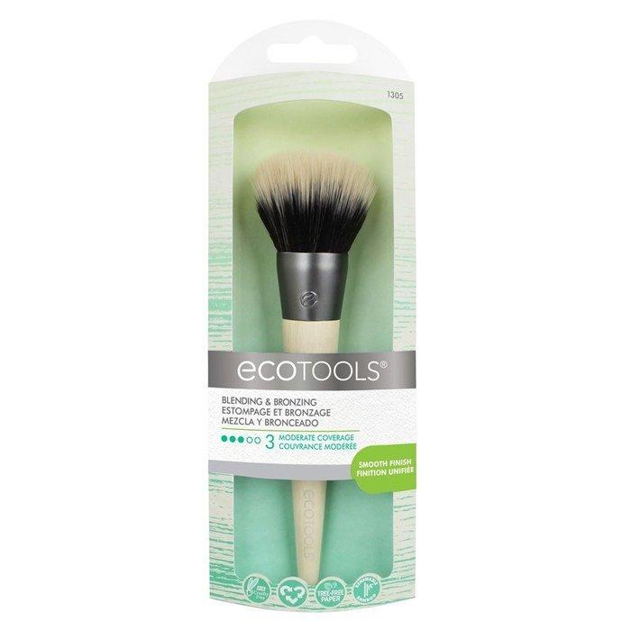 EcoTools Blending & Bronzing#1305 多功能化妝刷 粉底刷 腮紅刷 修容刷 【愛來客】