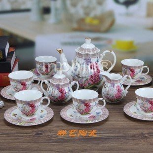 INPHIC-15頭陶瓷咖啡杯套裝套具歐式咖啡杯壺碟茶咖啡廳