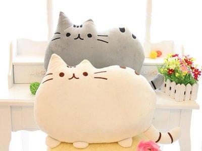 ☆GO 划算 ☆ 微笑貓咪聊天表情符號 Pusheen貓可愛創意大尾巴大臉貓咪 抱枕靠墊