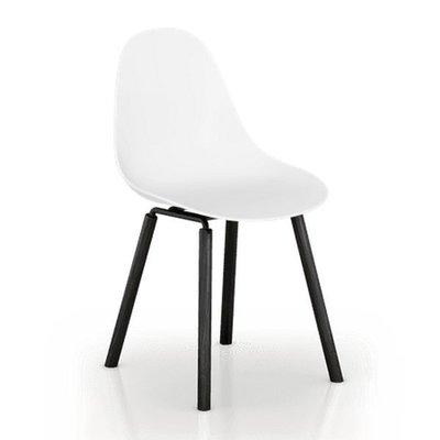 百老匯diy家具-坎帕休閒椅(橡木腳-黑色)高腳椅/休閒椅/書桌椅/洽談椅/七色可選