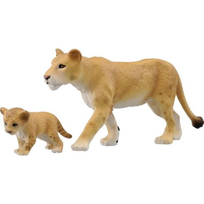 多美動物園 AS-17 獅媽媽與寶寶 Lioness (TAKARA TOMY) 83201