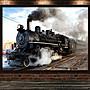 火車裝飾畫汽車磁懸浮高鐵蒸汽車海報訂製早...