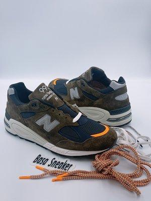 【Basa Sneaker】New Balance X MADNESS 990v2 墨綠色