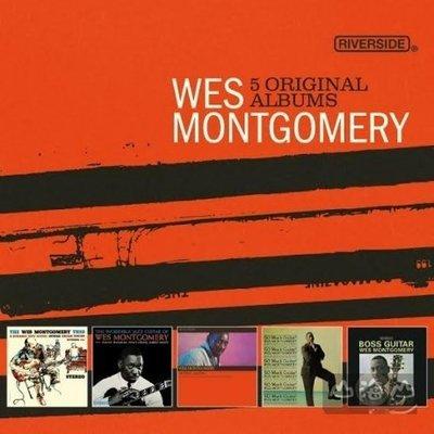 爵士超凡大師傳奇5CD 王盤套裝/ 威斯蒙哥馬利 Wes Montgomery---7236973