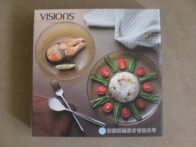 109股東會紀念品~ 國統 ~ 康寧餐盤 VISIONS 晶彩琥珀 8.5吋 深盤 鈉鈣玻璃 微波適用 產地:土耳其