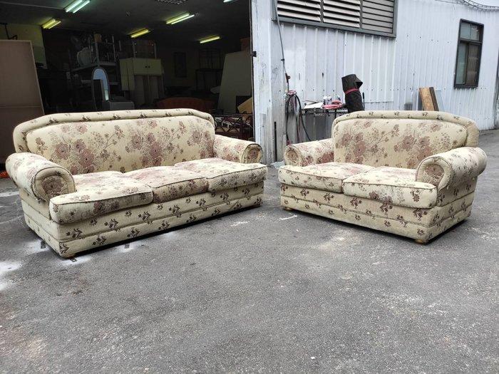非凡二手家具 歐式緹花布2+3人座沙發*客廳沙發*皮沙發*洽談沙發*辦公沙發*沙發椅*套房沙發*二手沙發