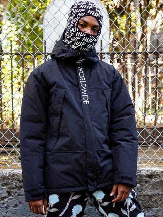 (安心胖) HUF AVALANCHE PARKA 2XL 軍用浮潛連帽衫