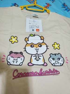 """罕有 日本 限定 Sanrio Corocoro Kuririn """"CK鼠""""  公仔圖案 純綿 短袖 T Shirt T恤 大人服 Size : L 碼"""