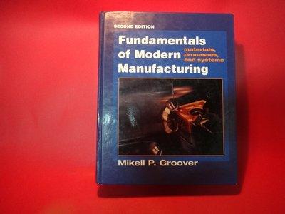 【愛悅二手書坊 04-36】Fundamentals of Modern Manufacturing