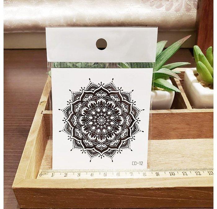 【萌古屋】】幾何花紋 - 手背防水紋身貼紙刺青貼紙CD-112 K12