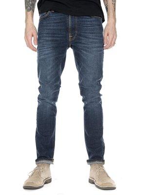 (預購商品) nudie LEAN DEAN DARK WORN NAVY 深藍 刷白 合身 錐形 義製 單寧 牛仔褲