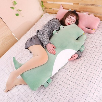 軟萌少女心娃娃鱷魚公仔毛絨玩具大號可愛床上玩偶恐龍毛絨玩具