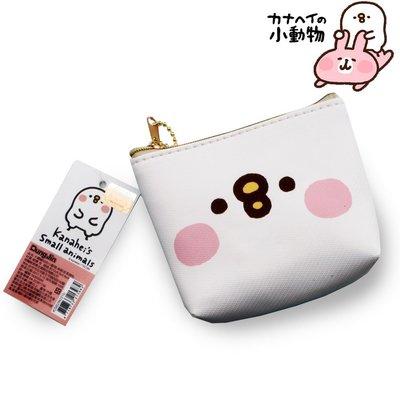 卡娜赫拉KANAHEI小動物粉紅兔兔與小雞珠鍊拉鍊立體方型零錢包 票卡包 包 包包掛件 零錢袋~~白色小雞P助款