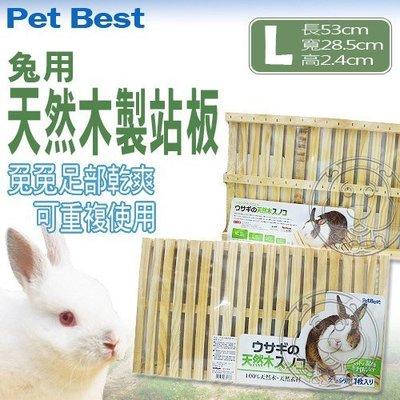 【🐱🐶培菓寵物48H出貨🐰🐹】Pet Best》R-A577天然木製站板-中(L) 特價179元