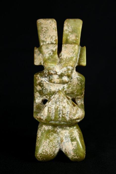《博古珍藏》天然青黃玉太陽神捧樂器擺件.1.72公斤.紅山文化文物.老鉈工.感恩特賣會.超值回饋