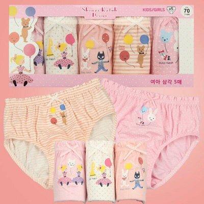 韓國女童內褲 兒童內褲 三角褲 卡通內褲 女童三角褲