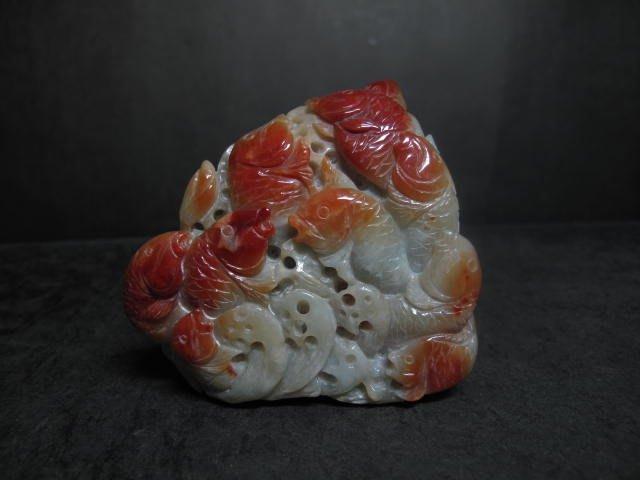 緬甸玉◎  翡翠   紅翡 荷葉鯉魚