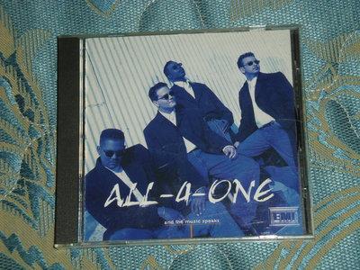 ALL-4-ONE合而為一合唱團-聽音樂在說話And The Music Speaks-葛萊美獎的最佳流行合唱團體-二手