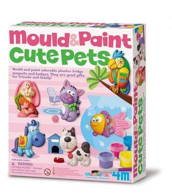 [木馬家]4M瑋恩書店  可愛寵物(製作磁鐵) Mould & Paint / Cute Pets
