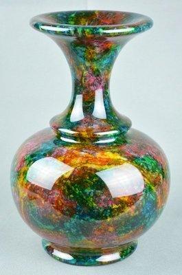 花蓮七彩玉,尺寸:直徑8吋*高度12吋,玉石擺飾收藏品