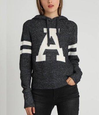 A&F af Abercrombie & Fitch 麋鹿 長袖 針織 帽T