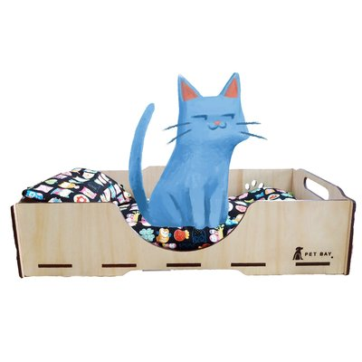 KT002 KATIE凱蒂床寢具組(墊+枕) 嚴選布料 毛小孩 寵物床 寵物睡墊 睡窩 寵物屋 小房子