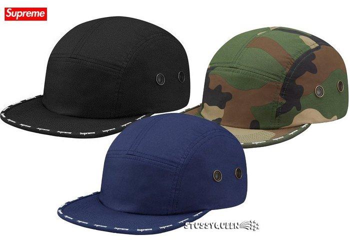 【超搶手】全新正品 2015 秋冬Supreme Visor Logo Tape Camp Cap 五分割帽 黑藍紅迷彩