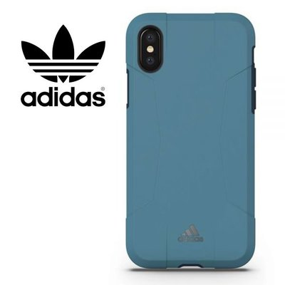 adidas Performance Solo 運動鎧甲 5.8吋 iPhoneX/iX 藍 背蓋/手機殼/29602