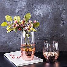 〖洋碼頭〗現代簡約花瓶擺件透明客廳玻璃幹花插花創意擺設歐式電視櫃裝飾品 fjs736