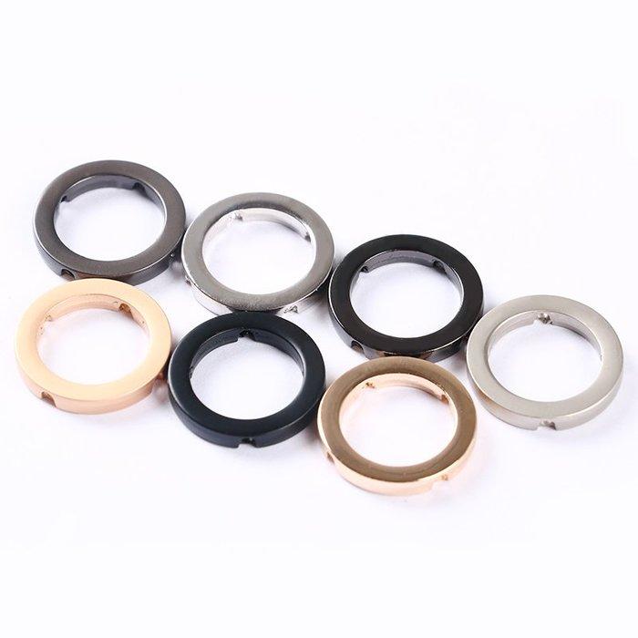 衣萊時尚-順源高檔金屬線縫圓線環紐扣吊鐘服裝箱包裝飾扣DIY配件(規格不同價格不同)