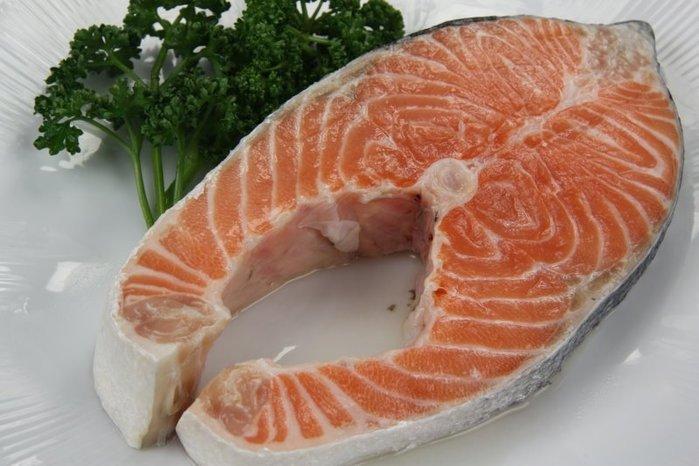 【萬象極品】鮭魚切片(厚切) 370g±5%/片~肉色紅潤肉質鮮嫩肥美口感滑順 ~