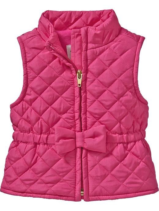 【BJ.GO】美國OLD NAVY 童裝_Frost Free Vests for Baby 甜美蝴蝶結菱格鋪棉保暖背心