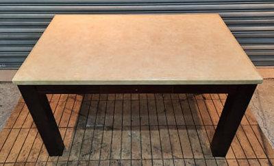 樂居二手家具館 便宜2手傢俱賣場 A0220BJJI大理石雙抽餐桌 洽談桌 會議桌 辦公桌 電腦桌書桌 台北新竹2手桌椅