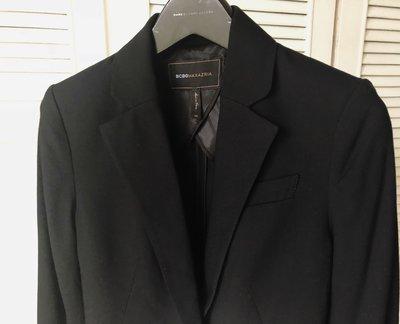 BCBG 深黑單排前短後長燕尾服西裝