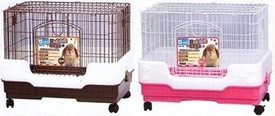 。╮♥咪嚕寵物用品♥╭新款日式2尺寵物兔/貓籠~含水瓶/食盆