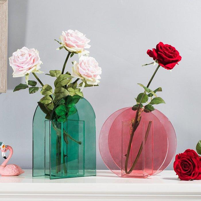 〖洋碼頭〗荷蘭klevering設計北歐個性創意彩色玻璃花瓶花器裝飾品 shx528