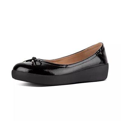 代購全新正品Fitflop SUPERBENDY Crinkle-Patent Ballet Flats女鞋US5~10