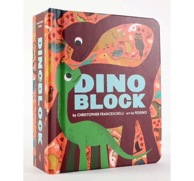 【大衛】Dinoblock (硬頁書)恐龍 方塊遊戲書
