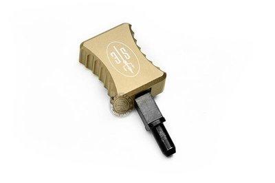 台南 武星級 SCAR MK17 加大 槍機拉柄 沙 ( BB彈卡賓槍步槍氣動槍衝鋒槍狙擊槍玩具槍AEG AR M4