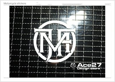 [ACE27 艾斯設計] 卡點西德 電腦割字 頑童 MJ116  機車貼 MJ Fresh Gang