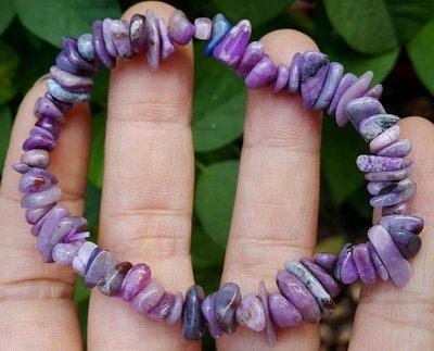 &&~紫雲軒水晶~&&【天然高級多彩亮藍紫色系舒俱徠萊石手鍊1條】隨形款  玉質化
