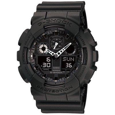 Casio 卡西歐 手錶 G-shock 雙顯 黑 Ga-100-1A1 男士腕錶