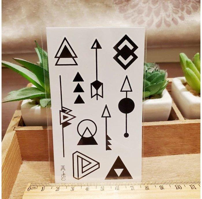 【萌古屋】黑色小圖騰 - 男女防水紋身貼紙刺青貼紙HC-430