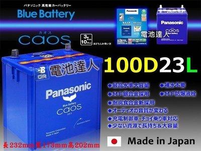 【電池達人】日本一 國際牌 汽車電池 100D23L INNOVA CAMRY RAV4 MAZDA 馬自達 3 5 6