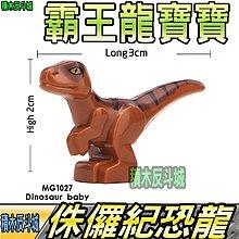 【積木反斗城】 恐龍寶寶 棕 侏儸紀 恐龍 暴龍 霸王龍 迅猛龍 MG1027 MG 袋裝/相容 樂高 LEGO 積木