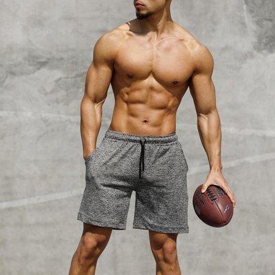 運動短褲男跑步健身速干運動褲薄款夏季寬鬆訓練中褲籃球五分褲男