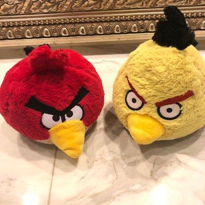 Angry Bird 憤怒鳥 紅色+黃色 玩偶
