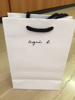 MIKIMY~全新專櫃正品agnes b紙袋(白)