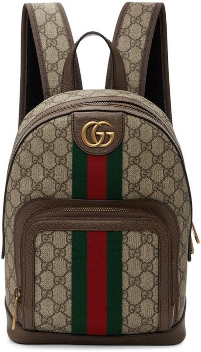 ~The Black Dan Moccani~ [新款] Gucci GG Ophidia 經典老花 帆布塗層 後背包